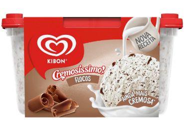 SORVETE KIBON CREMOS FLOCOS 1,5L