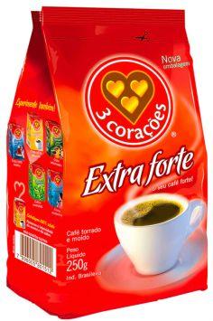 CAFÉ 3 CORAÇÕES ALMOFADA EXTRA FORTE 250G