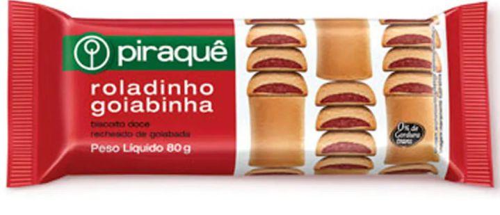 BISCOITO PIRAQUE ROLADINHO GOIABA 100G