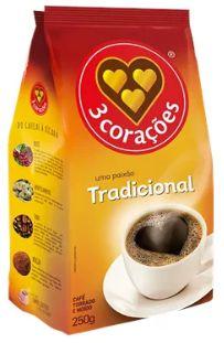 CAFÉ 3 CORAÇÕES ALMOFADA TRADICIONAL 250G