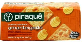BISCOITO PIRAQUE CREAM CRACKER AMANTEIGADO 200G
