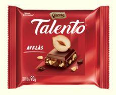 CHOCOLATE BARRA GAROTO TALENTO AVELÃ 90G