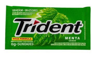 CHICLETE TRIDENT 21S MENTA 8G