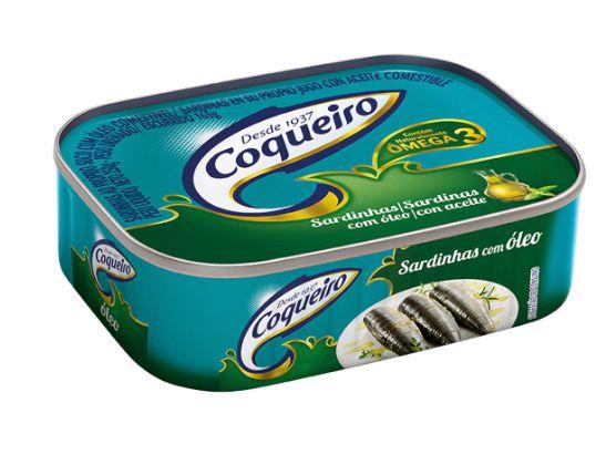 SARDINHA COQUEIRO ÓLEO DE SOJA 125G