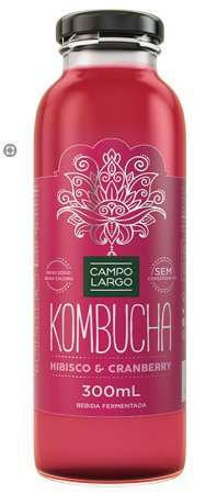 BEBIDA KOMBUCHA HIBISCO + CRANBERRY 300ML
