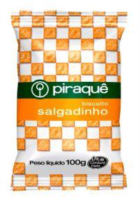 BISCOITO PIRAQUE SALGADO SALGADINHO 100G