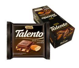 CHOCOLATE BARRA GAROTO TALENTO MEIO AMARGO 25G