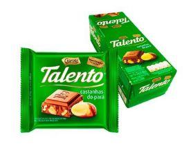CHOCOLATE BARRA GAROTO TALENTO CASTANHA PARÁ 25G