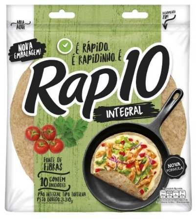 PÃO RAP 10 INTEGRAL 330G