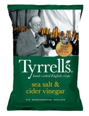 BATATA TYRRELLS SEA SALT & CIDER VINEGAR 150G