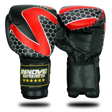 Luva de Boxe/Muay Thai Profissional Innove Vermelha