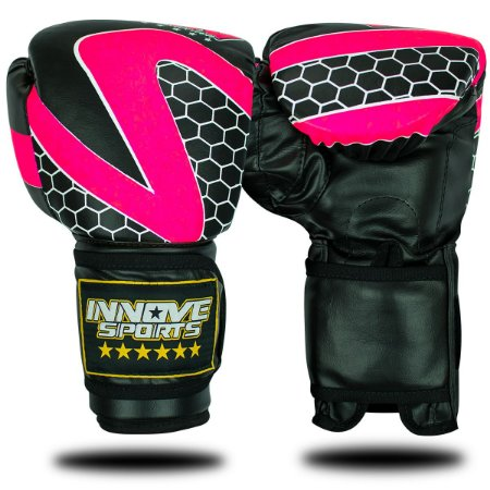 Luva de Boxe/Muay Thai Profissional Innove Rosa