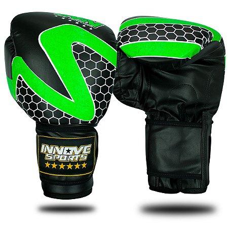 Luva de Boxe/Muay Thai Profissional Innove Verde
