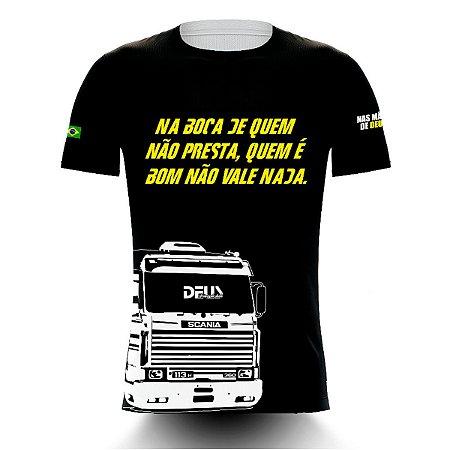 Camiseta Caminhoneiro Na Boca De Quem Não Presta, Quem É Bom Não Vale Nada