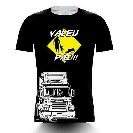 Camiseta Caminhoneiro Valeu Pai