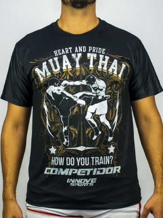Camiseta Muay Thai Heart and Pride