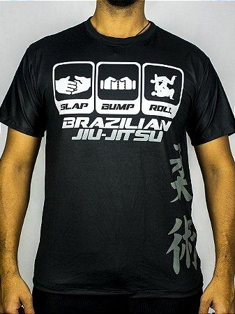 Camiseta Jiu-Jitsu Slap Bump Roll PRETA