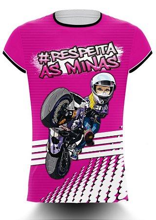 Camiseta Feminina 244 Não é Crime - Respeita as Minas
