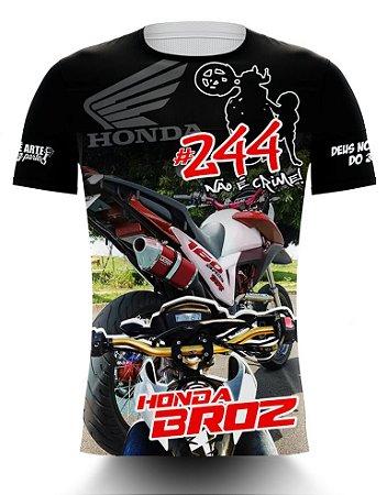 Camiseta 244 Não é Crime - HONDA BROS