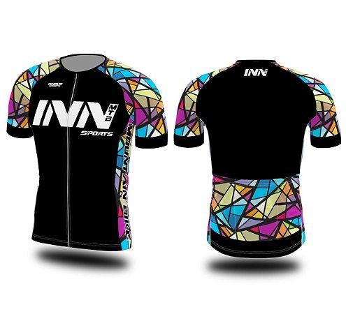 Camisa Ciclismo Zíper Longo INN Cycle Sport Ref.004 Preta