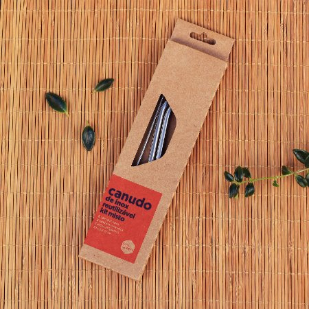 Kit de Canudos de Inox Misto