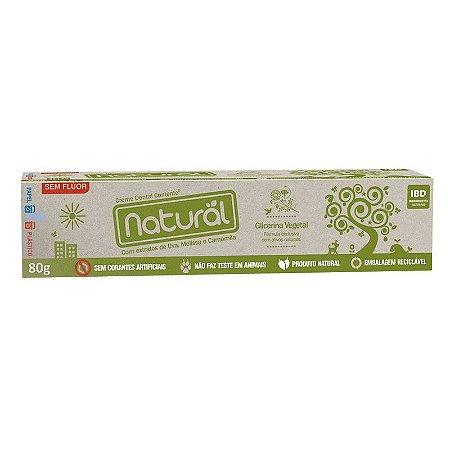 Creme Dental com ingredientes orgânicos e naturais 80g