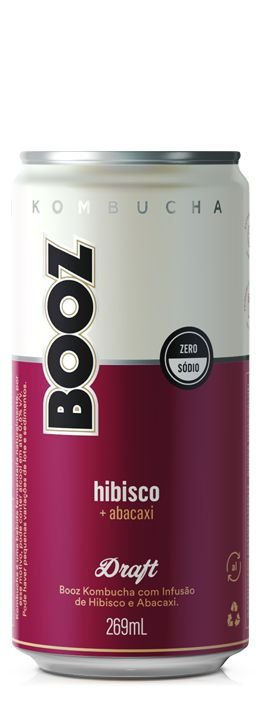Kombucha Booz Hibisco+Abacaxi 269ml