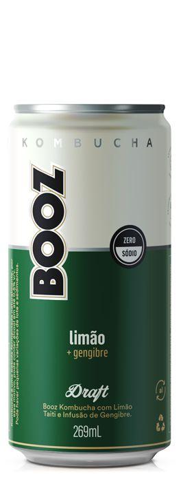 Kombucha Booz Limão+Gengibre 269ml