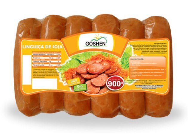 Linguiça de Soja Goshen - 900g