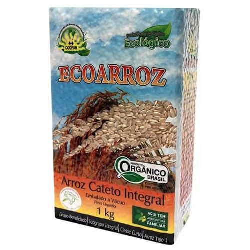 Arroz Cateto Integral Orgânico COOPAN 1Kg