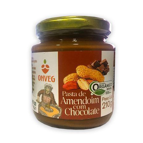 Pasta de Amendoim com Chocolate Orgânica ONVEG 210g