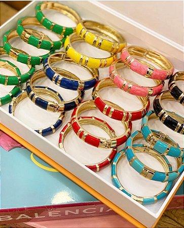 Bracelete Esmaltado Frisos Colors