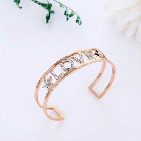 Bracelete Love Cravejado