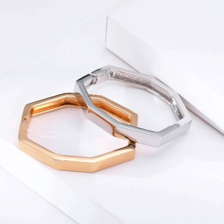 Bracelete Banho Ouro Geométrico