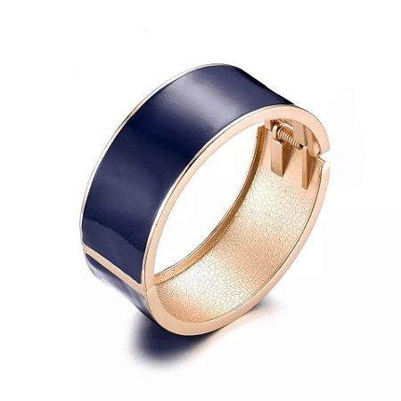 Bracelete Esmaltado Azul Marinho