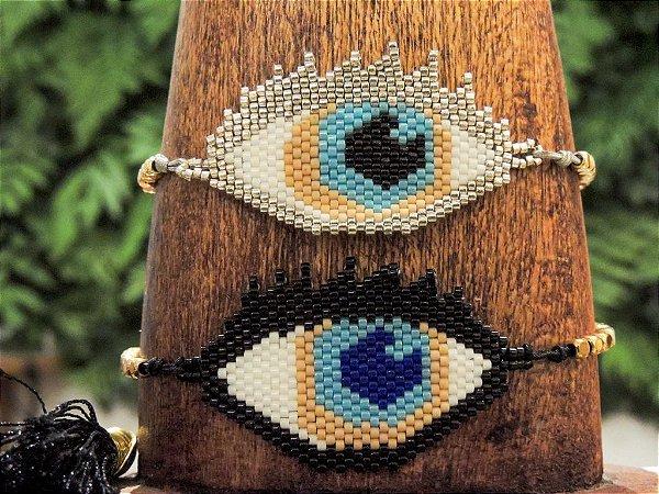 Pulseira Contas Color Olho