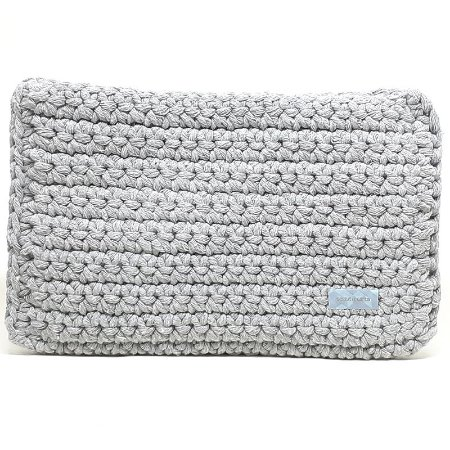 Capa Tablet Tessuti Tech Crochet Cinza 27x20