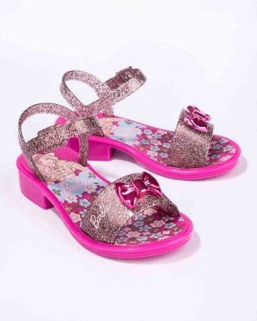 Sandálias Barbie Rosa/rosa Glitter