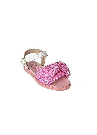 Sandálias Molekinha Pink/branco