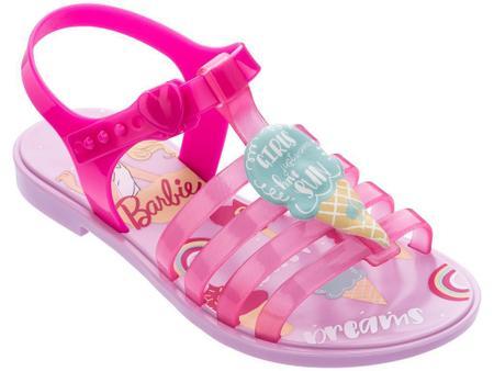 Sandálias Barbie Rosa/amarelo/verde