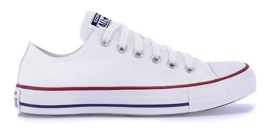 Tênis Converse All Star Branco/vermelho/mho