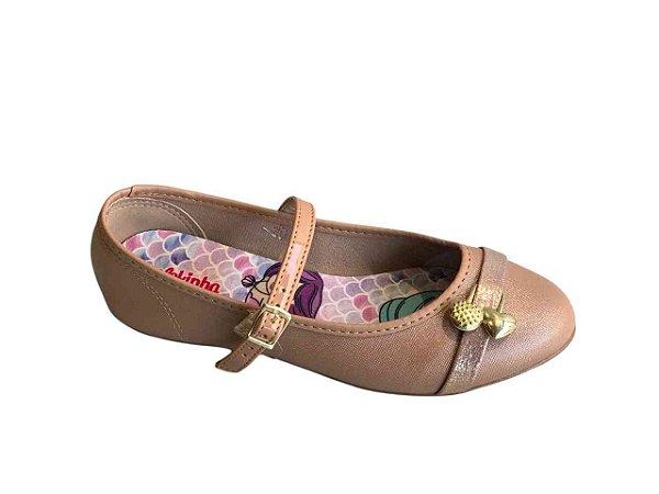 Sapatos Molekinha Nude/rosa