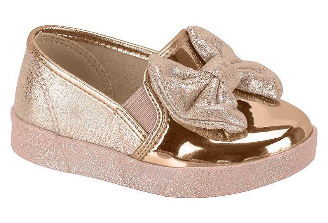 Sapato Molekinha 2124511 Rosa/ouro