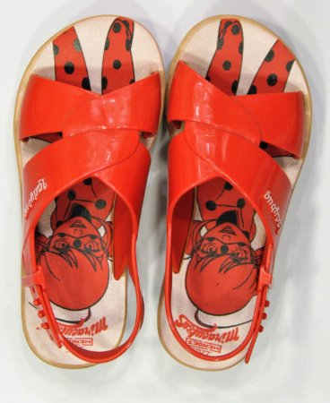 Sandália Ladybug Trip Marrom/vermelho