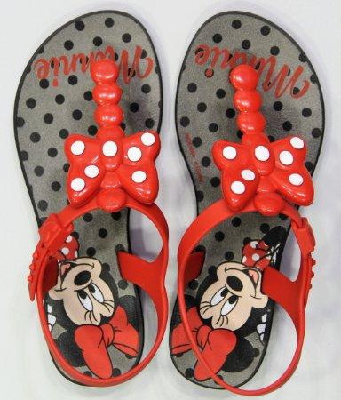 Sandálias Mickey E Minnie Pto/vermelho/prata