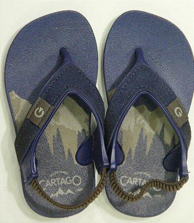 Chinelos Cartago Dakar Plus Baby/11493 Azul/azul