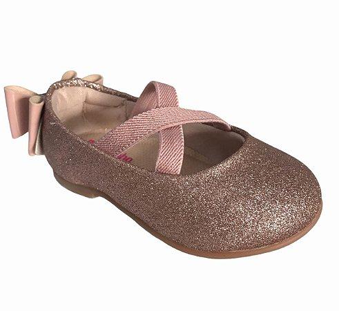 Sapatos Molekinha Ouro Rosado