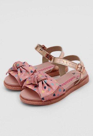 Sandálias Molekinha Multi Rosa/ouro