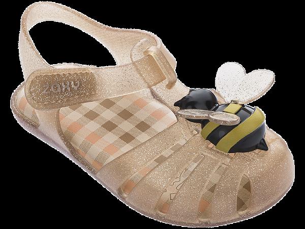 Sandálias Zaxy Bege Glitter