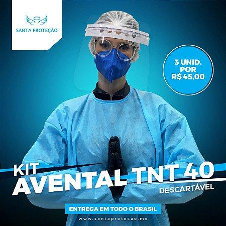 KIT com 3 Aventais em Tnt 40g - Azul
